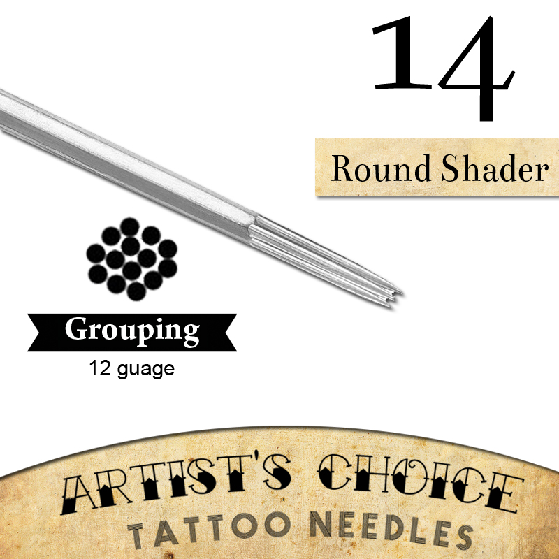 Artists choice tattoo needles 14 round shader 50 pack for Shading tattoo needles