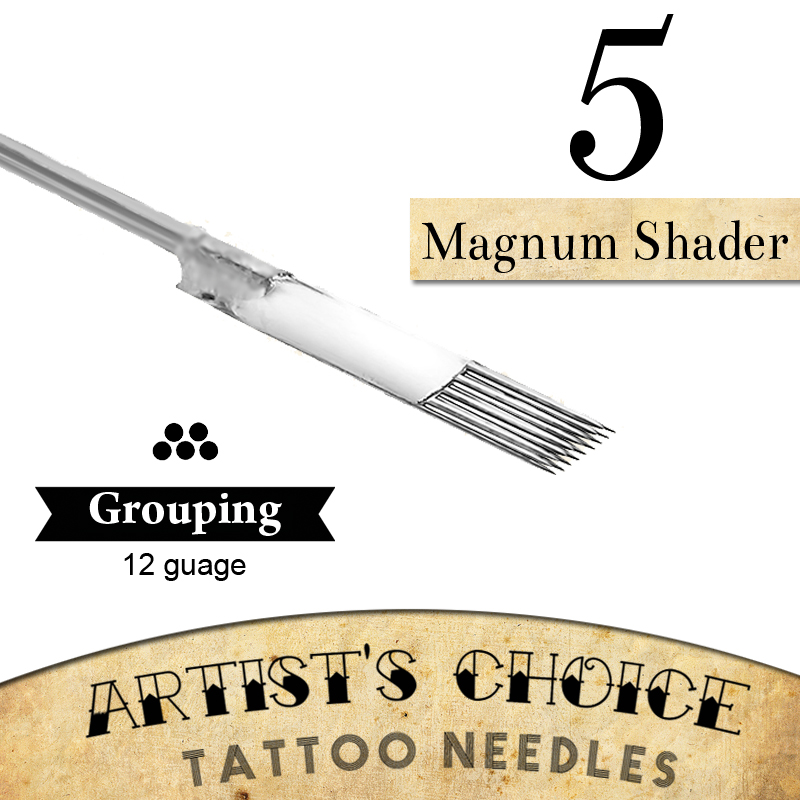 artists choice tattoo needles 5 magnum shader 50 pack