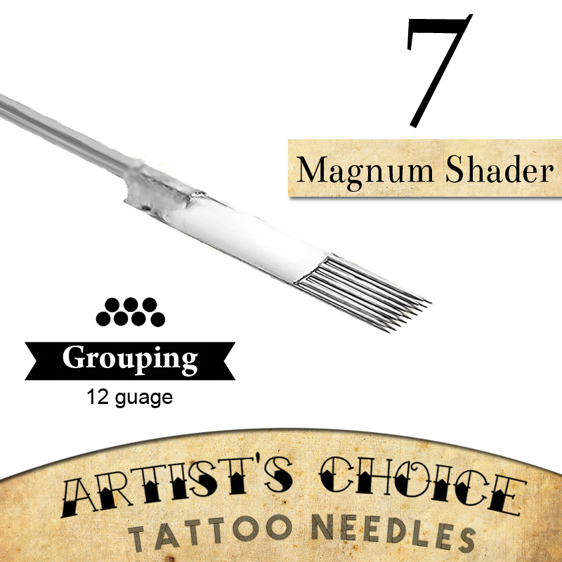 Artists Choice Tattoo Needles -7 Magnum Shader 50 Pack