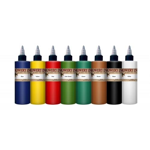Intenze bowery ink by bowery stan moskowitz 1 oz 8 color set for Intenze tattoo ink sets