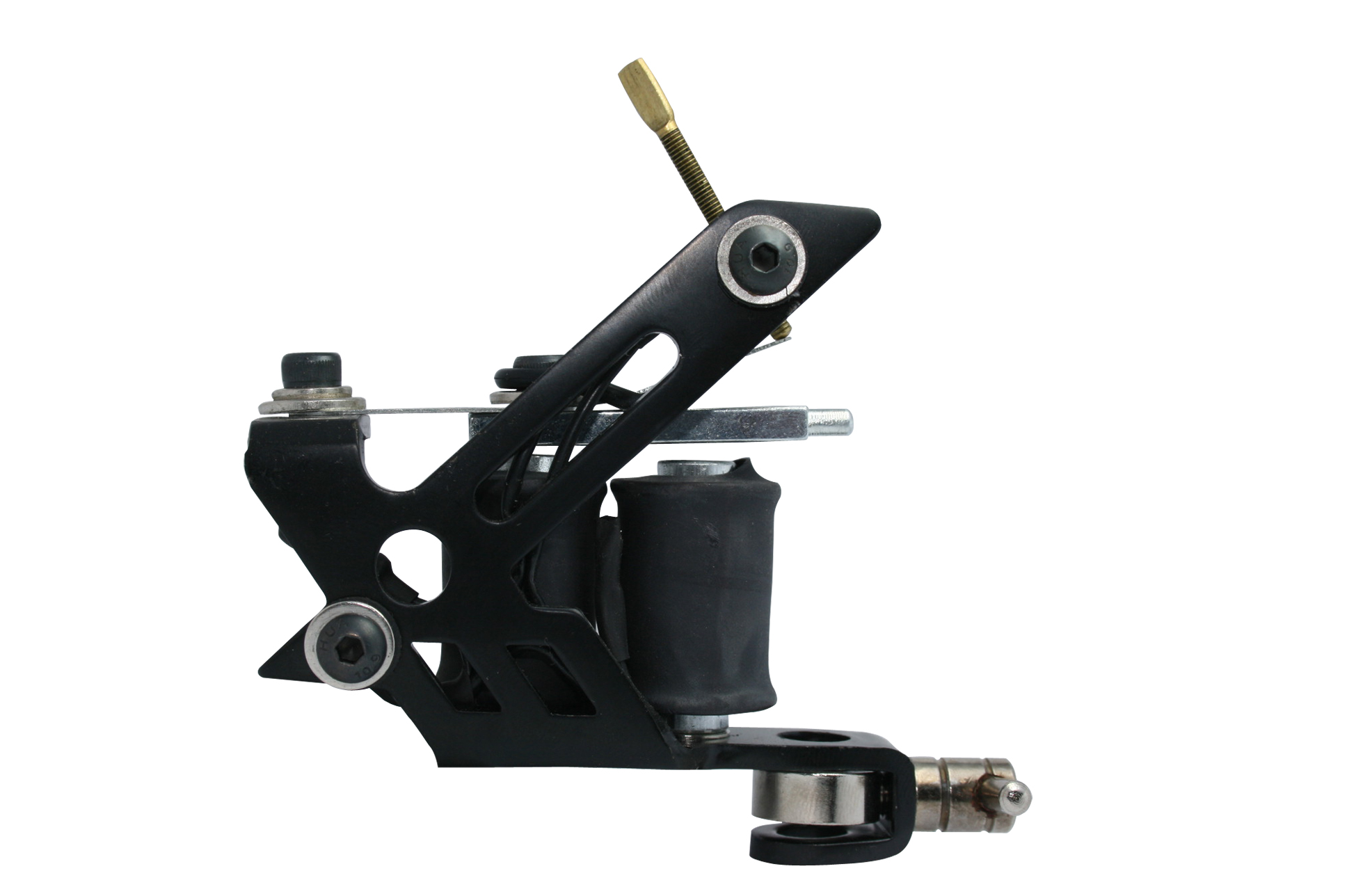 Black stainless steel tattoo machine w 10 wrap coils for Tattoo machine coil covers