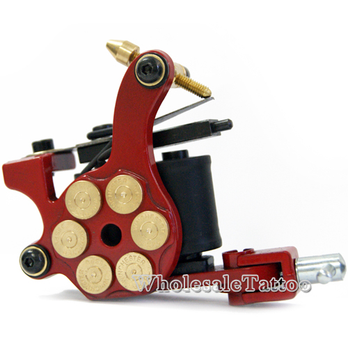 E class professional red bullet revolver tattoo machine w for Tattoo machine coil covers