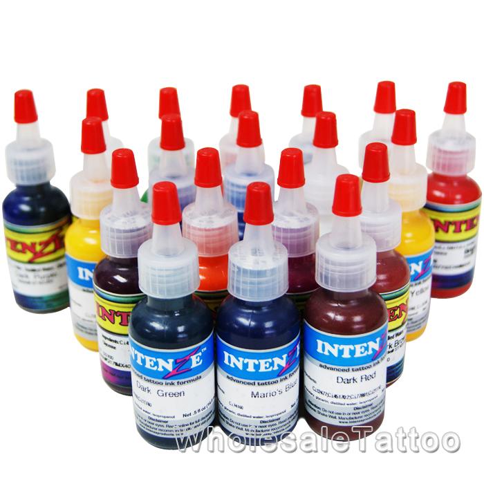 19 color intenze tattoo ink set 1 2oz
