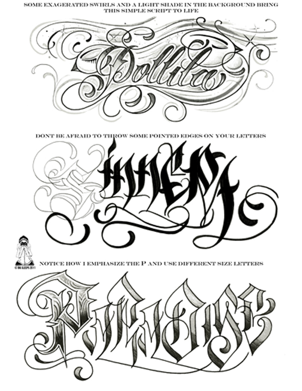 Letters To Live By Volume 2 Tattoo Script Lettering Sketchbook