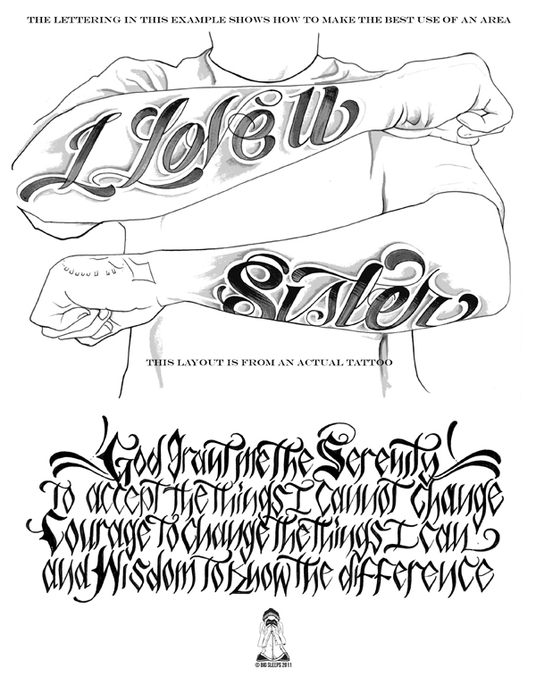 LETTERS TO LIVE BY VOLUME 2 Tattoo Script Lettering Sketchbook Flash Book By Big Sleeps 50
