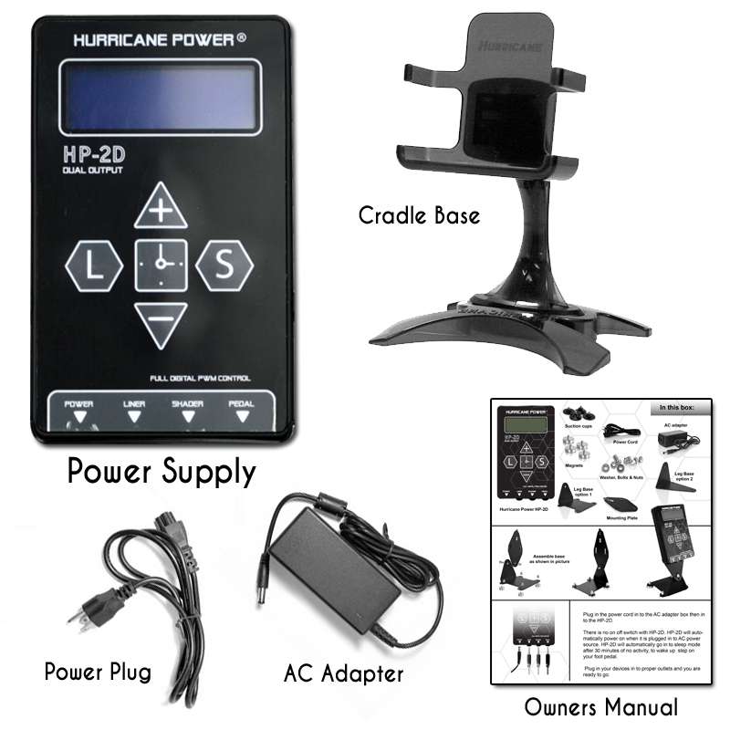Hurricane hp 2d dual digital lcd power supply for Power supply for tattoo