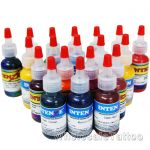 19 Color Intenze Tattoo Ink Set 1/2oz
