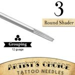 Artist's Choice Tattoo Needles - 3 Round Shader 50 Pack