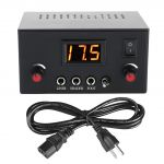 LED Dual Tattoo Power Supply for Liner & Shader w/Clip Cord, Power Plug & Foot Pedal