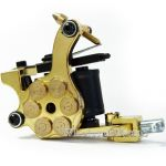 E-class Professional Glod Bullet Revolver Tattoo Machine w/10 Wrap Coil
