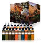 Intenze Mike Demasi Color Portrait Tattoo Ink Set (19 Colors 1oz)
