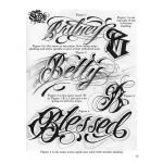 LETTERS TO LIVE BY VOLUME #1 Tattoo Script Lettering Sketchbook Flash Book by Big Sleeps (55 Pages)