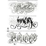 LETTERS TO LIVE BY VOLUME #2 Tattoo Script Lettering Sketchbook Flash Book by Big Sleeps (50 Pages)