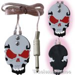 Stainless Steel Skull Metal Tattoo Foot Pedal - Red Eyes