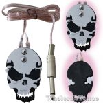 Stainless Steel Skull Metal Tattoo Foot Pedal - Black Eyes