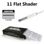 Tattoo Needles - 11 Flat Shader 50 Pack