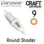 Cheyenne Craft Cartridge needles - 9 Round Shader - 10 Pack