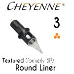 Cheyenne 3 Textured Round Liner Cartridge