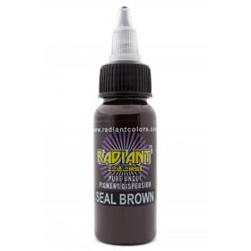0.5 oz Radiant Tattoo ink SEAL BROWN
