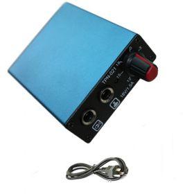 Professional Blue Tattoo Power Supply w/ Clip Cord, Power Plug & Foot Pedal