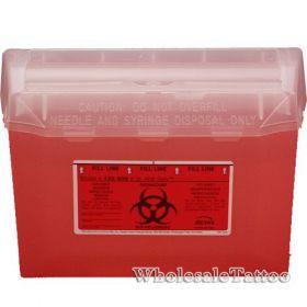 Bemis Sharps Container, Red, 3 Quart