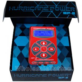 Hurricane HP-2 Red Dual Digital LCD Tattoo Power Supply - 2013 New Version