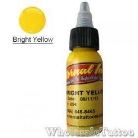 1 oz Eternal Tattoo Ink bright yellow