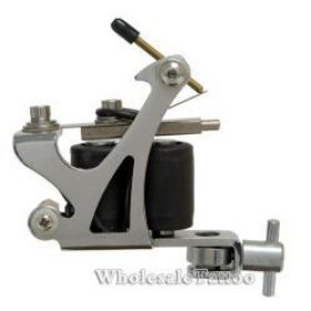 C-CLASS Basic Steel Tattoo Machine Silver w/8Wrap Coils