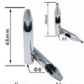 Stainless Steel Tattoo Tips - 1 Round Shape