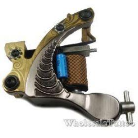 S-CLASS Yellow Steel Professional Tattoo Machine TM-S020 /w 10 coils